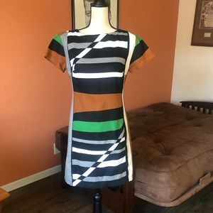 DEREK LAM Linen Graphic Surf Parrot dress